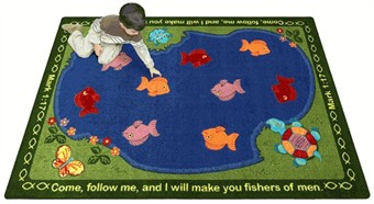 Fishers of Men Faith Based Rug 10'9 x 13'2
