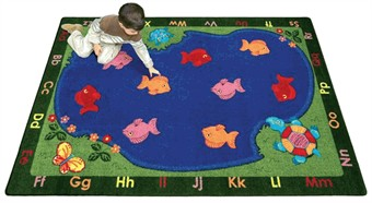 Fishin' Fun School Rug 3'10 x 5'4