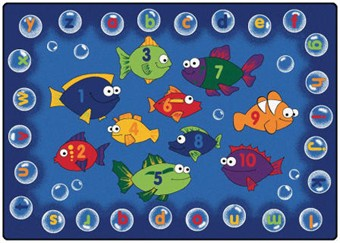 Fishing for Literacy Classroom Rug 6' x 9'