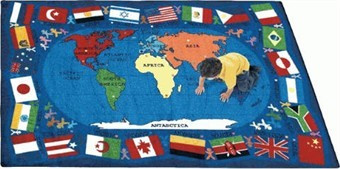 Flags of the World Classroom Rug 5'4 x 7'8