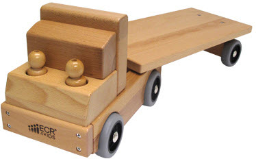 ECR4Kids Flatbed Truck Transportation Vehicle Toy