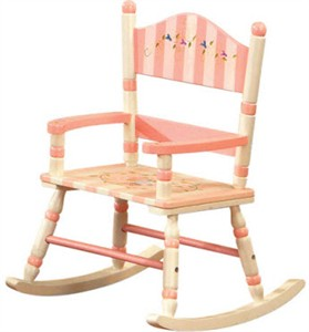 Floral & Stripes Rocking Chair