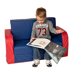 Foamnasium Pull Out Vinyl Covered Foam Sofa