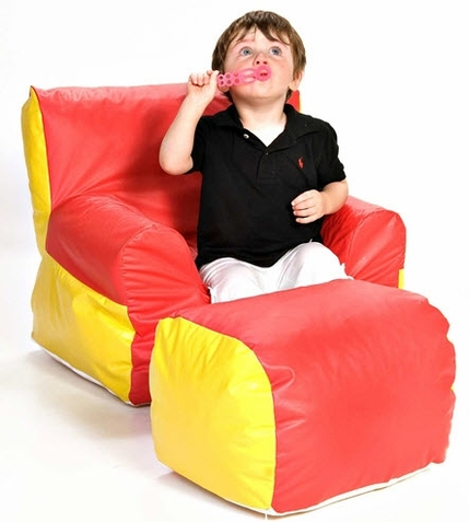 Foamnasium Soft-E-Boy Chair and Ottoman