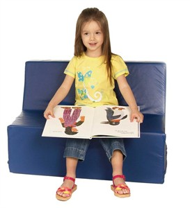Foamnasium Straight Back Kids Vinyl Covered Foam Sofa