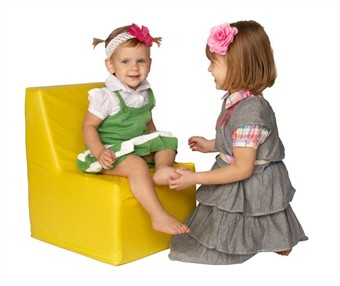 Foamnasium Straight Back Vinyl Foam Kids Chair