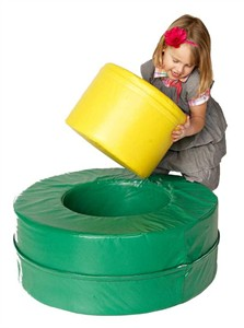 Foamnasium Vinyl Covered Foam Circle in Circle Soft Block
