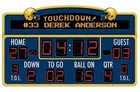 Football Scoreboard Peel & Stick Wall Decal