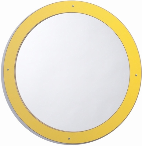 Framed Round Mirror