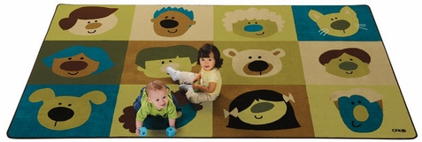 Friendly Faces Infant Toddler Rug Factory Second 6' x 9'