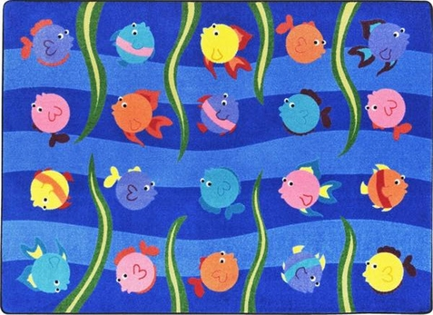 Friendly Fish School Rug 7'8 x 10'9