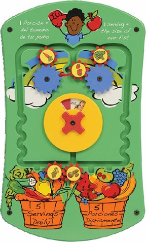 Fruits & Veggies Wall Activity Toy