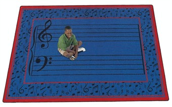 Fully Staffed Music Room Rug