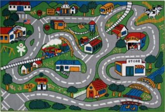 Fun Time Country Roads Area Rug 8' x 11'