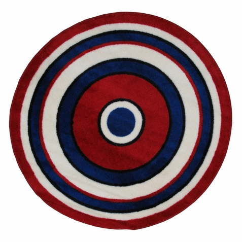 "Fun Time Shape Concentric 2 Area Rug 51"" Diameter"