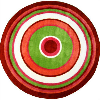 "Fun Time Concentric 3 Area Rug 51"" Diameter"