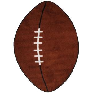 Fun Time Shape Football Area Rug - Free Shipping