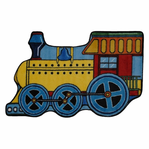 Fun Time Shape Train Area Rug - Free Shipping