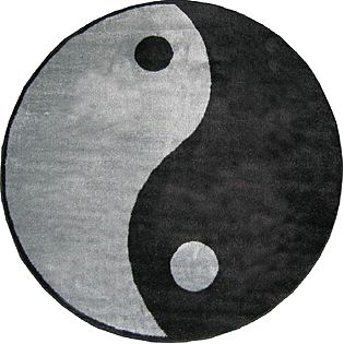 Fun Time Shape Ying Yang Area Rug