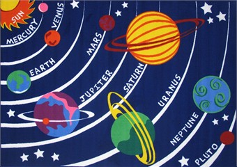 Fun Time Solar System Area Rug