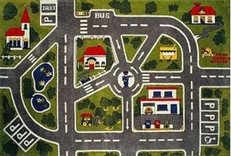 Fun time Streets Area Rug