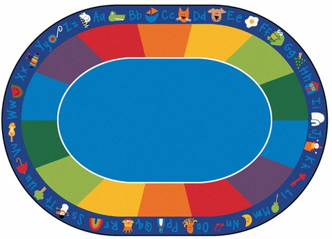 Fun with Phonics Classroom Rug 8'3 x 11'8 Oval