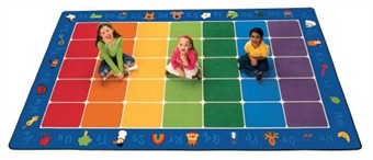 Fun with Phonics Rug Factory Second 7'6 x 12'