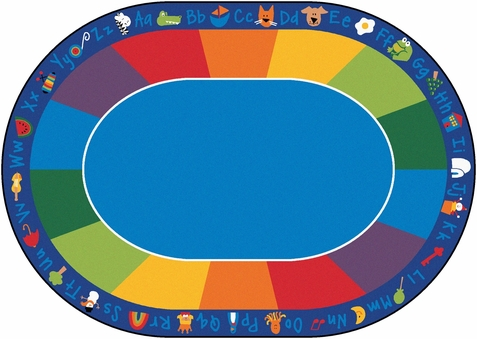 Fun with Phonics Rug Factory Second 8'3 x 11'8 Oval