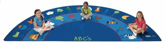 Fun with Phonics Semi Circle Factory Second School Rug 6'8 x 13'4