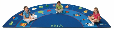 Fun with Phonics Semi Circle Rug 6'8 x 13'4