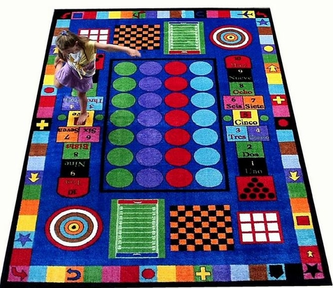 Game Time Classroom Rug - Free Shipping