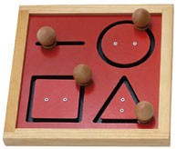 Geometric Tracking Board Educational Toy