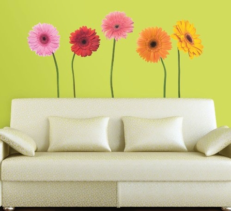 Gerber Giant Daisies Peel & Stick Appliques