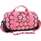 Girls Big Dots Pink Duffel Bag