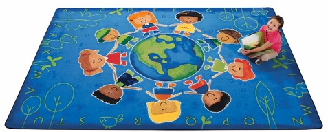 Give the Planet a Hug Classroom Rug 5'5 x 7'8