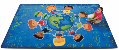 Give The Planet A Hug Factory Second Rug 7'8 x 10'10