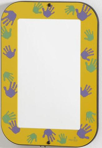 Goldenrod Hands-On Acrylic Wall Mirror