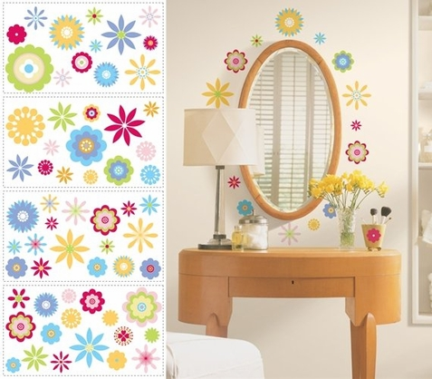 Graphic Flowers Peel & Stick Wall Decals