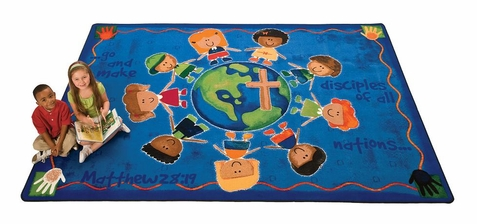 Great Commission Faith Rug 7'8 x 10'10