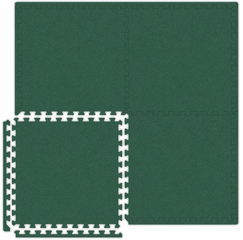 Green Interlocking Soft Touch Floor Mat - Free Shipping