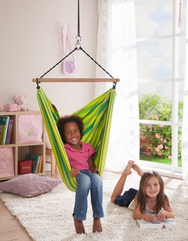 Green Lori Organic Children's Hammock Chair