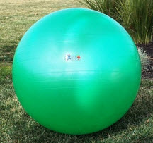 Green Low Impact Gym Ball 75cm/30in - Free Shipping
