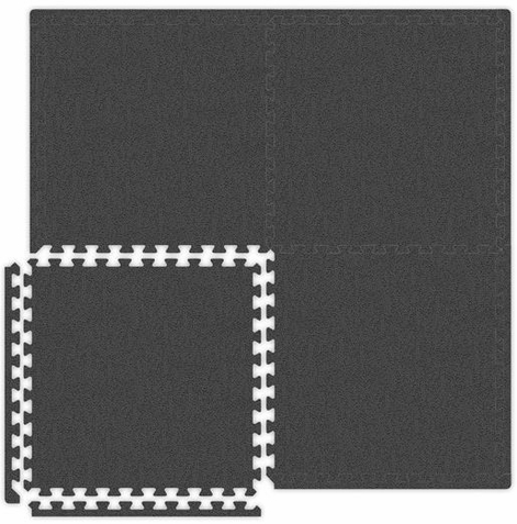 Grey Interlocking Soft Touch Floor Mat