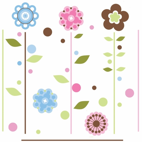 Growing Flowers Peel & Stick Appliques