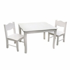 Classic White Kids Table & Chairs Set