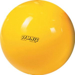 "Gymnic Classic 30"" Yellow Therapy Ball"
