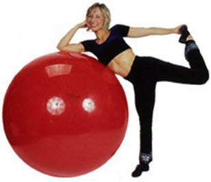 "Gymnic Classic 48"" Red Therapy Ball"