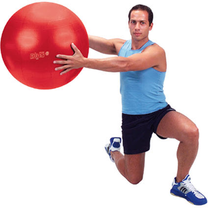 "Gymnic Classic Plus Red 22"" Exercise Ball"