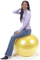 "Gymnic Classic Plus Yellow 30"" Exercise Ball"