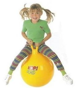 Gymnic Yellow Hop Ball 45cm/18""